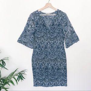 Ella Moss Paisley Smocked Midi Dress